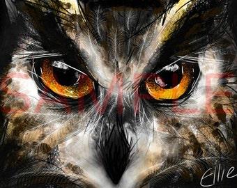 Eagle owl - A3 print