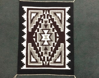 Authentic Navajo Two Grey Hills Rug