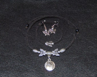 Butterfly Necklace, Bracelet and Earring Set