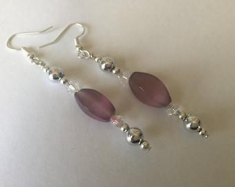 Elegant Lilac Dangle Earrings