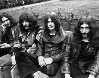 "Black Sabbath Poster 13x19"" Black And White"