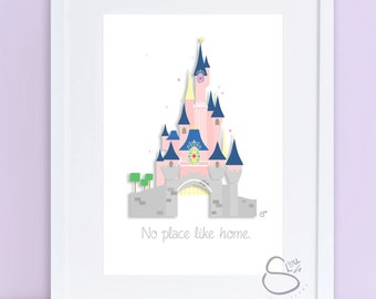 Pink Castle Inspired Print