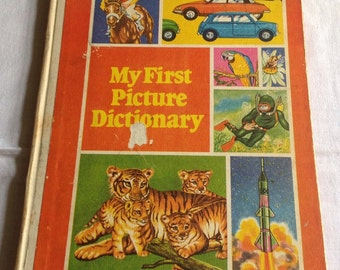 """Vintage 1970's """"My First Picture Dictionary"""" book - Brown Watson. London"""