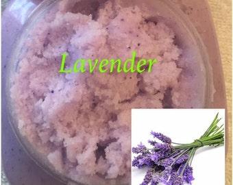 8 oz. Lavender Whipped Sugar Scrub (Vegan Exfoliate Body Scrub)