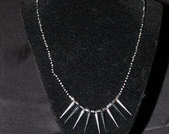 Black and Silver spike necklace