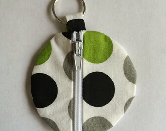 Polka Dot Fabric Organization Head Phone Case