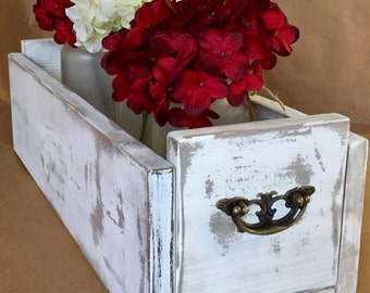 Frosted Mason Jar Centerpiece Box, Farmhouse Decor, Holiday Centerpiece Box