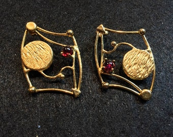 Landscape Vermeil Earrings