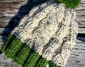 Soft chunky knit hat