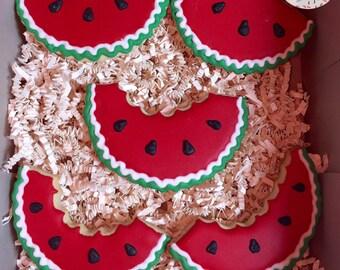 Watermelon Cookies - 1 & 1/2 Dozen (18 Cookies)
