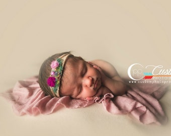 Baby Wraps Photo Props, RTS Pink Newborn Photo Prop Knit Stretch Wrap Photography Props, Baby Swaddling Wraps, Soft, WiSteRia Girl Lux
