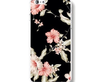 Black Floral - Iphone 6/6s - Phone Case - Flowers