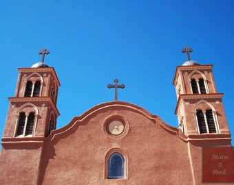 Old San Miguel Mission Church Photograph, Socorro, NM, Old Adobe Church, Old Catholic Mission Church, Spanish Mission, American Southwest