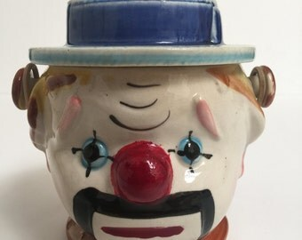 Vintage Ceramic Clown Jar