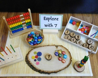 Loose Parts Number Exploration, Math Activity, Fine Motor Skills, Gift for Kids, Montessori Classroom, Reggio Emilia, Teacher Resources