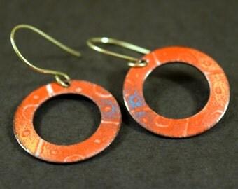 Hot Tamale Enamel Earrings
