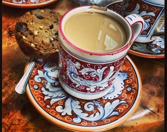 Coffee And A Biscuit - Still Life - Saucer - Cookie - Photo