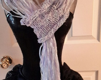 Hand knit Pass Thru Fringe Scarf