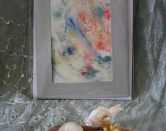 Hand painted abstract acrylic mini works of art