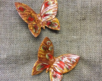 Butterfly ceramic wall decoration