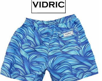 VIDRIC Mens Waves Swim Trunks