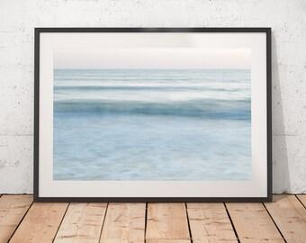 Ocean Print Abstract, Ocean Photograph, Modern Decor Wall Art, Long Exposure, Minimalist Artwork, Printable Art, Digital Download