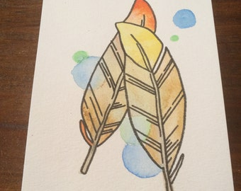 Feathers- Original Watercolor Art