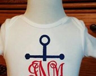 Custom Anchor Monogram Bodysuit
