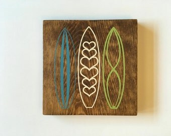 Surf Boards Wood Sign