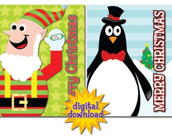Assortment of 8 Colorful Christmas/Holiday Cards #2