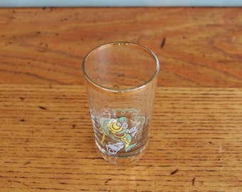 Vintage Shot Glass, Liqueur Glass, Beach themed Glass, Small Drinking Glass, Decorative Glass, Gift Idea, Shell, Fish, Display, Props