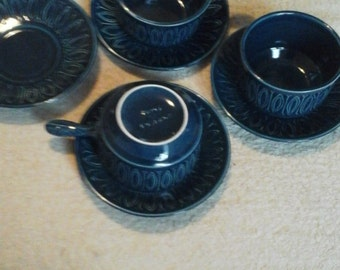 Tams blue cups and saucers