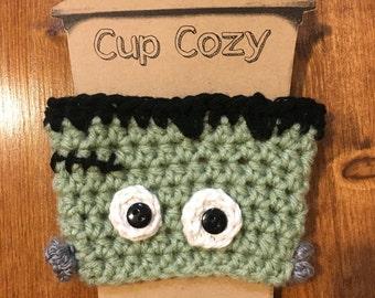 Frankenstein coffee sleeve