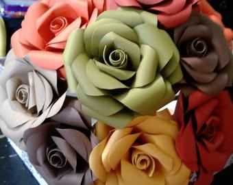 Paper roses bouquet- falls colors