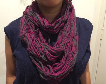 Short purple infinitive scarf