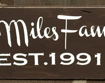 Custom Painted Wooden Signs