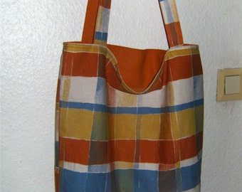 Beach bag, shoulder bag, shopper made of cotton, sewn
