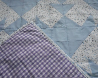 Baby Blue Cot Quilt