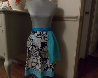 Turquoise Floral Apron
