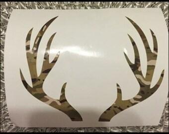 Camo deer antlers