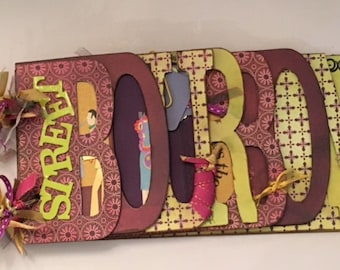 New Orleans Bourbon Street Chipboard Word Book