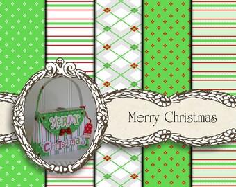 Christmas Digital Paper, Digital Christmas Cards, Christmas Digital Download for Holiday Paper Crafts, Holiday Cards & Christmas Cards.