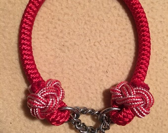 Paracord Knotted Martingale Dog Collar