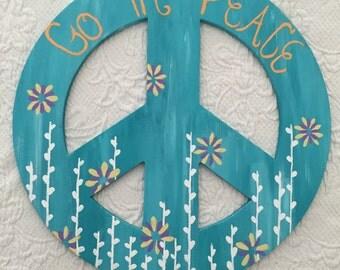 Wood Peace Sign