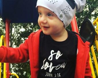 Kids Shirt | Kids Christian Shirt | John 3:16 | Christian Shirt for Kids | So Loved Shirt | Bible Verse Shirt