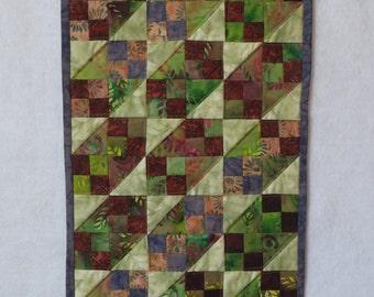 Miniature Batik Quilt