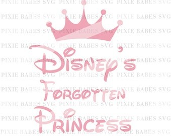 Disney's Forgotten Princess SVG, Disney Princess SVG, Clip art, Cuttables, Cricut svg, Silhouette svg, Cutting File, heat transfer vinyl