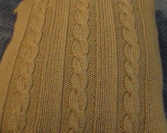 Triple Wheat Cable Knit Pillow