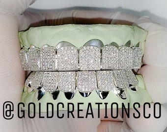 8pc top and/or bottom grillz with cz's