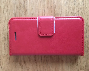 iPhone 6 PLUS Credit Card Phone Cover - Red
